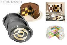 Wilton Checkerboard Backform 4-teiliges Set Schachbrettkuchen rund Torte Kuchen