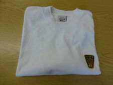 CREW NECK T SHIRT, ROVER BRANDED, WHITE, SIZE SMALL, NEW