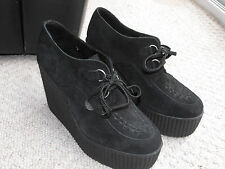 UNDERGROUND WULFRUN CREEPER  BLACK SUEDE SHOES - MASSIVE WEDGE SIZE 8 WORN ONCE