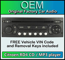 Citroen C3 Picasso car stereo MP3 CD player Citroen RD4 radio + FREE Vin Code