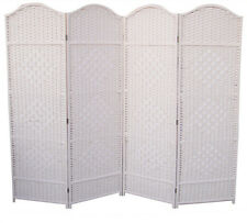 WHITE DRESS SCREEN CLASSIC WOVEN PARTITION DIVIDER