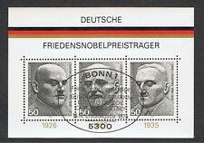 Bund Block 11 Friedensnobelpreisträger ESSt Mi 871-873
