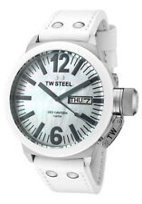 TW Steel CEO Canteen Men's 45mm White Ceramic MOP Watch CE1037