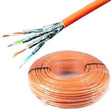 Verlegekabel Cat.7 100m für Lan DSL Netzwerk Ethernet 10Gbit 1000Mhz SFTP 100 m