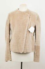 NWT BRUNELLO CUCINELLI Brown Shearling Leather Jacket Coat Size 8/44 $5070