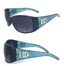 Women DG Logo Square Flower Lace Printed Fashion Sunglasses - Blue Frame  D190