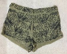 Topshop Lace/ Embroidered Dress Shorts, Size 38
