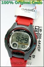 LW-200-4A Children's red Genuine Casio Watch 10 Year Battery Lift 50M Led Light