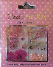 """""""Nail Art Kit 08"""" 3D  Set  dekoration  Blüten - Perlen - Strass - Glitter...TOP"""
