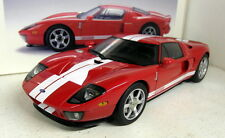 Autoart 1/18 Scale - 73021 Ford GT Red / White Stripes GT40 Diecast model car