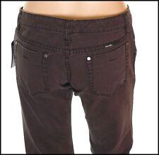 """Bnwt Women''s Oakley Jeans Industrial Denim L32"""" UK Size 6 Black Slim Fit New"""