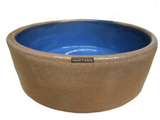 AVF-903 Ceramic Feed Water Bowl 24cm Dog Cat Reptile Bird Pet Animal Blue Heavy