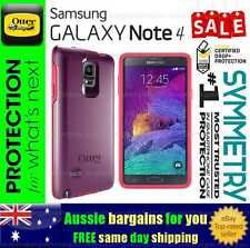 Samsung Galaxy Note 4 Case OtterBox Otter Box Symmetry Tough Cover Shock Berry