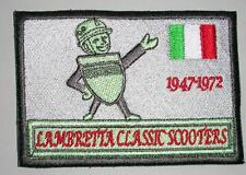 New Embroidered cloth badge - Lambretta 50 years -- Scooter --grey - advertising