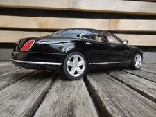 BENTLEY MULSANNE  BLACK 1/18 RASTAR # 43800 DIECAST COLLECTORS MODEL