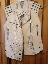 River Island Pink Fake Leather Gilet / Waistcoat