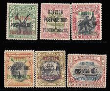 North Borneo 1902-12 2c-8c (SG D38-43) MLH/MVLH £171