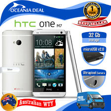 [NEW SEALED BOX] HTC ONE M7 32GB 4G LTE SILVER UNLOCKED SMART PHONE + OZ WTY