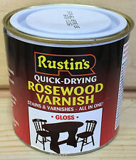 Rustins Rosewood Varnish/Stain/Quick-Dry/Wood/Dye/Gloss/Woodwork/Colour/ 250ML