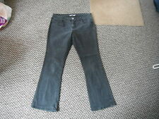 """Dorothy Perkins Bootcut Jeans Size 16L Leg 32"""" Black Faded Ladies Jeans"""