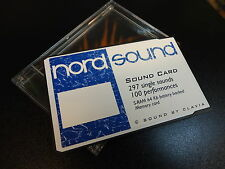 NORD PCMCIA EXPANSION DATA SOUND CARD STORAGE FOR LEAD 1/2/RACK SYNTHESIZER