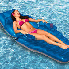 Luxury Pool Lounge Adjustable Recliner Chaise Chair Inflatable Mattress Lounger