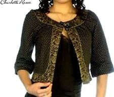 Charlotte Russe 3/4 Sleeve Jacket Top New With Tag Size Small