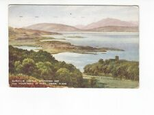 Postcard. Dunollie Castle. Mountains of  Mull Oban.