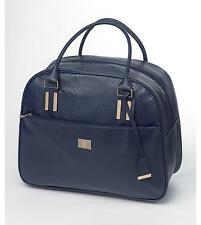 Overnight / Weekend Bag Navy Blue Gold Trim NEW Stylish Snakeskin Print Design