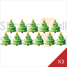 Christmas Tree Vinyl Wall Stickers, Wall Decals, Removable Peel and Stick