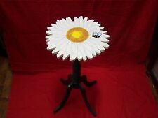 SMALL WOOD FLOWER TABLE / NIGHTSTAND WOOD DAISY FLOWER TABLE 24 INCHES TALL
