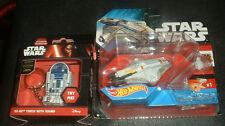 STAR WARS HOTWHEELS GHOST AND R2-D2 KEYRING TORCH WITH SOUND;  BRAND NEW SEALED