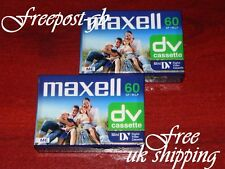 PACK OF 2 HIGH QUALITY MAXELL DVM-60 MINI DV DIGITAL CAMCORDER TAPES / CASSETTES