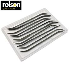 Rolson Riffler File 200mm 10 Pieces Needle Glass Stone File Tool New