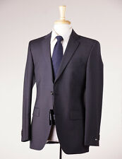 NWT $895 HUGO BOSS Charcoal Gray Fine-Stripe Wool Suit 38 R 'Grand/Central'
