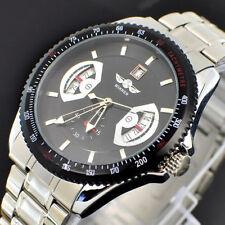WINNER  Black Herrenuhr  Edelstahl Armband Uhr mechanisch-automatisch