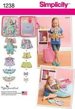 Simplicity SEWING PATTERN 1238 Toy Elephant With Clothes & Carrying Case
