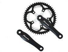 Raleigh Alloy / Steel Bike / Cycle Chainset 170mm x 52/42 Black