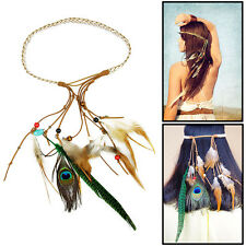 Feather Headdress Hippy Bohemian Chic Head Bands  Festival Party Carnival