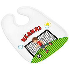 Babylätzchen (864) FUßBALL Name und Themenbild personalisiert Spucktuch Name