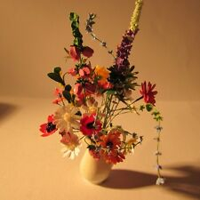 Flowers in vase ~ Doll house miniature ~1 twelfth