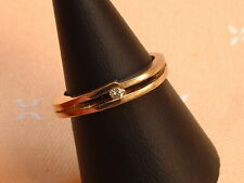 Exclusiver Brillant Ring - Solitär - 0,06 ct. - 14 Kt. Gold - 585 - Gr. 54 - NEU