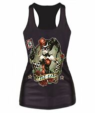 Womens Tees Blouses Tops Stretch Vest Gothic Tank Batman Harley Quinn Joker