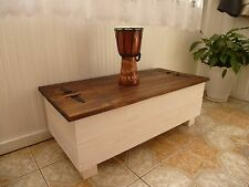 RUSTIC PINE SOLID WOOD CHEST/ TRUNK/ COFFEE TABLE toy box