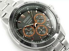 Seiko Men's Quartz SKS521P1 Stainless Steel 100M Chronograph Date Watch