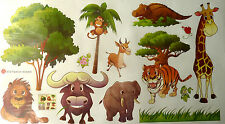animal jungle zoo wall sticker decal children/kids bedroom