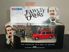 CORGI 00802 FAWLTY TOWERS RED AUSTIN 1300 DIECAST MODEL CAR + JOHN CLEESE FIGURE