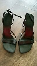 Aldo ladies black heal strappy shoes size 5