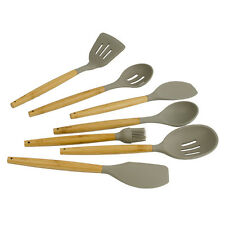 Livvi Bamboo & Silicone 7 Piece Kitchen Cooking Utensil Set RRP $75.00 Spoon