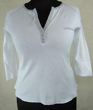 Süßes ADIDAS  Shirt  100% Baumwolle weiß mit grauem Besatz Gr. 42 Top Zustand !